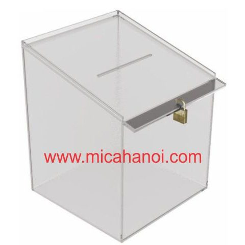 Đơn vị nhận thiết kế-gia công thùng phiếu mica giá rẻ, chất lượng 9