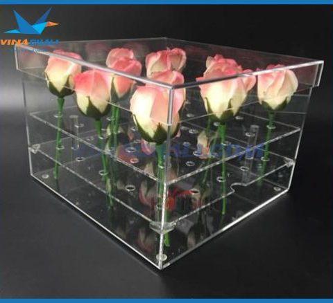 Hộp mica đựng hoa hồng 9
