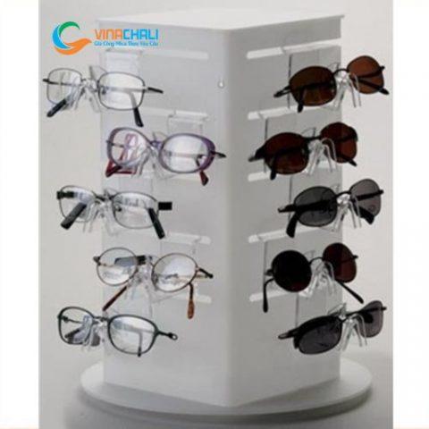 Kệ mica trưng bày mắt kính 8 1