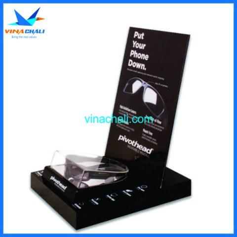 Kệ mica trưng bày kính mắt 4 8