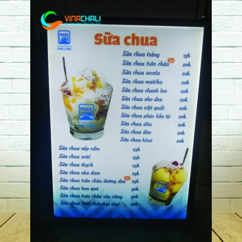 Tranh điện menu nhà hàng 1